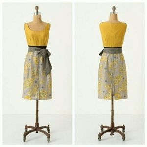 Anthropologie Blooming Goldenrod Dress